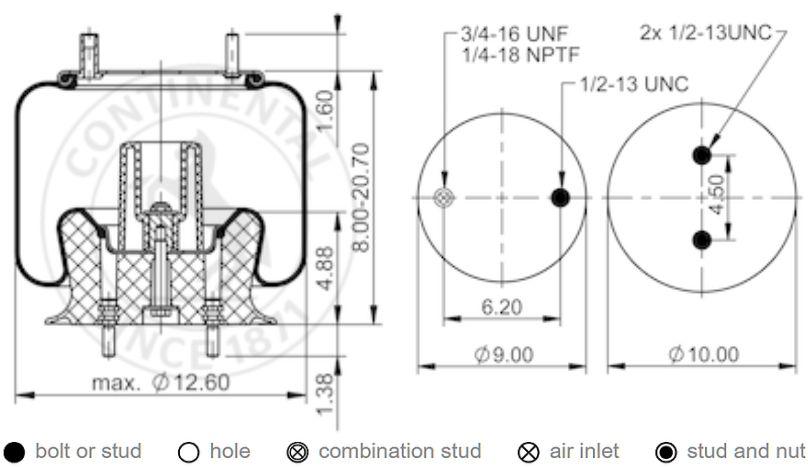 Amortisseur De Cuve R/éf/érence 481246648092 Pour Lave Linge Whirlpool