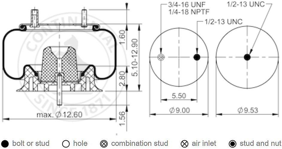 Contitech/ /Correa trapezoidal /avx13/X 775/