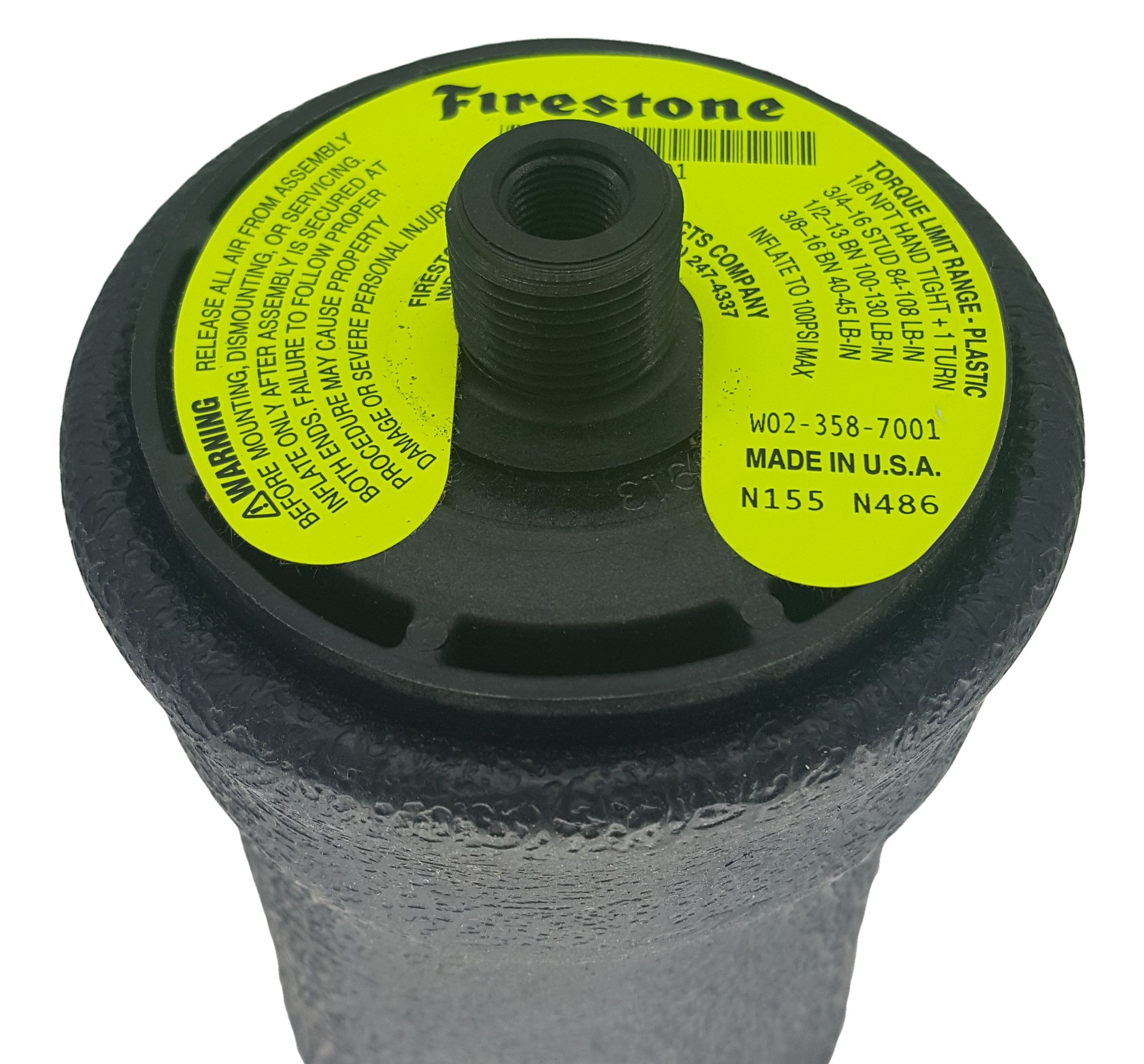 Firestone W02-358-7001 Air Spring Orange Logo   Kenworth T81-1001 Link  1102-0020 1102-0023