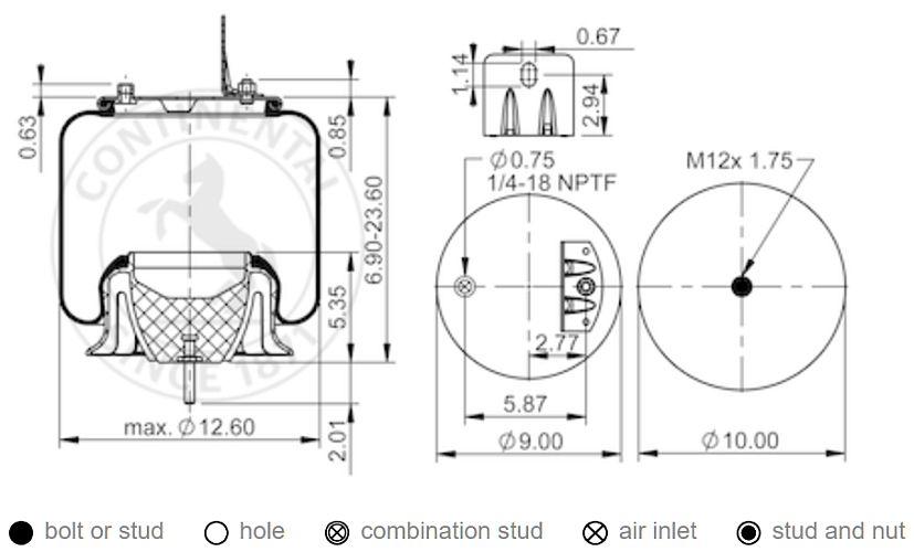 Contitech As9875 Air Spring Navistar