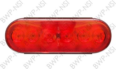 OPSTL12RB - 6Oval 6LED TailLight Red