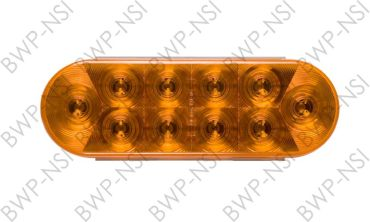 OPSTL72AB - 6Oval 10LED TailLight Amber
