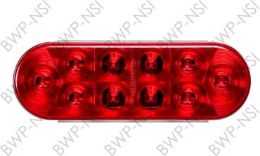 OPSTL72RB - 6Oval 10LED TailLight Red