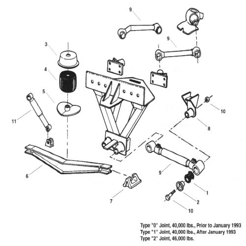Chalmers 800 Series Truck Suspension Parts