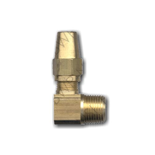 Brass DOT 90° Compression Elbow 3/8 Tube x 1/4 MPT