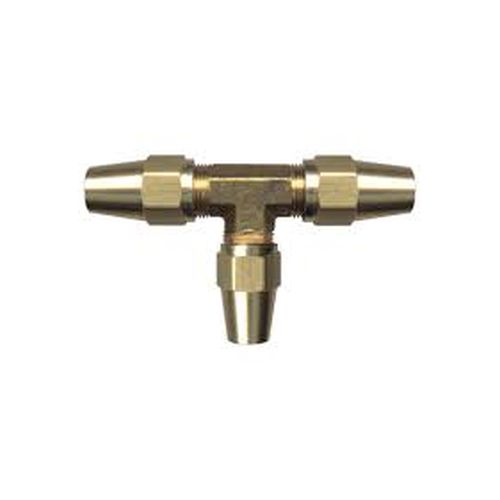 Brass DOT Compression Union Tee, 1/2 Tube