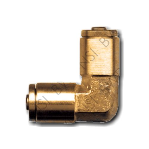 Brass DOT 90° Union Elbow Push to Connect 5/8 Tube