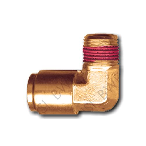 Brass DOT 90° Elbow Push to Connect 3/8 Tube x 1/4 MPT