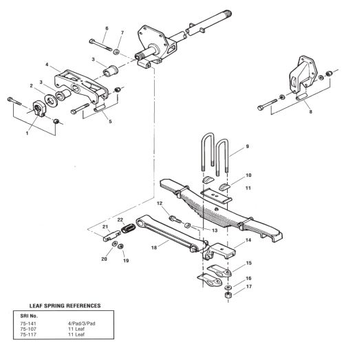Peterbilt 4 Spring Tandem Rear Suspension