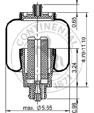 ContiTech AS7093 Air Spring | Peterbilt 29-06016