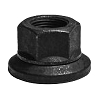 M-4115 - Wheel Nut M20 x 1.5 x 30mm Hex 2 Piece Teflon Coated Flange Metric
