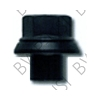 Wheel Nut, 19mm Sleeve for Aluminum Steer, Steel-Steel Drives - Flanged M22 x 1.5