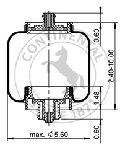 ContiTech AS7109 Air Spring | Kenworth T81-1000 Link 1104-K002