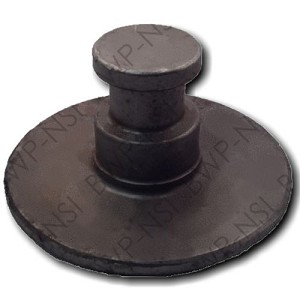 "Trailer King Pin 8"" Round 1/4"" Plate"