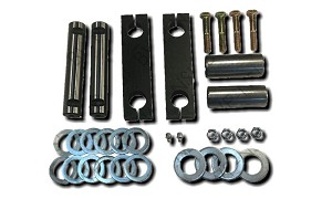 Steer Axle Rear Side Bar Kit - Side Bars, Pins and Hardware